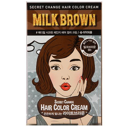 Купить Крем-краска для волос MEDIHEAL SECRET HAIR Milk brown, РЕСПУБЛИКА КОРЕЯ/ REPUBLIC OF KOREA