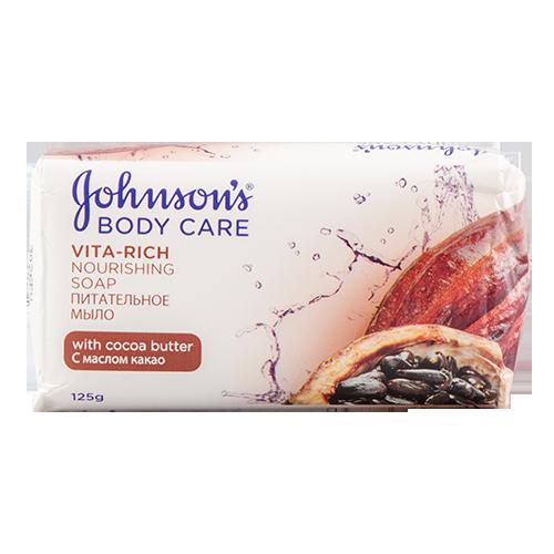 Купить Мыло твердое JOHNSONS VITA-RICH питательное с маслом какао 125 гр, РОССИЯ/ RUSSIA