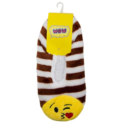 Тапочки `SOCKS` SMILE коричневые, one sizeПрочее<br>Тапочки мягкие<br>