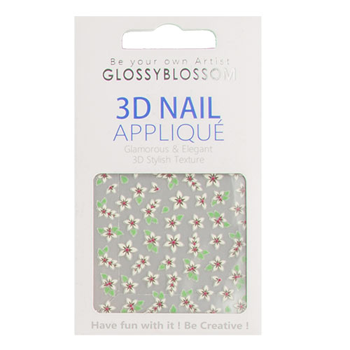 Наклейки для ногтей `GLOSSYBLOSSOM` REAL 3D TD-040             а/п 96325Дизайн ногтей<br>Декоративные украшения для ногтей GlossyBlossom помогут сделать Ваш маникюр необычным, ярким и современным!<br>