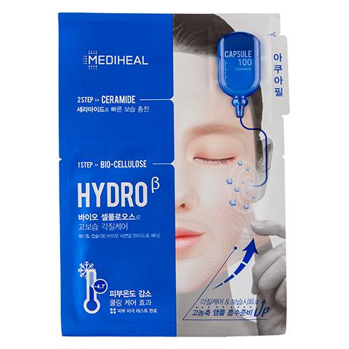 Маска для лица `MEDIHEAL` HYDRO 2-х ступенчатая с керамидами 27 млМаски<br>ШАГ 1<br>Ультратонкая основа препятствует испарению влаги и питательных веществ из самой маски, в отличие от других тканевых масок. Маска хорошо держится на лице, не сползая, а тепло, образующееся под маской, помогает открыть поры, что способствует лучшему впитыванию. <br>Основной ингредиент маски - керамиды, помогают удерживать влагу и предотвратить сухость кожи.  В состав маски также входит кокосовая вода, которая обладает матирующим эффектом, увлажняет и питает кожу. <br>ШАГ 2<br>Сыворотка для лица с керамидами наполнит кожу живительной влагой, поможет сохранить ее упругой, гладкой и подтянутой.<br>
