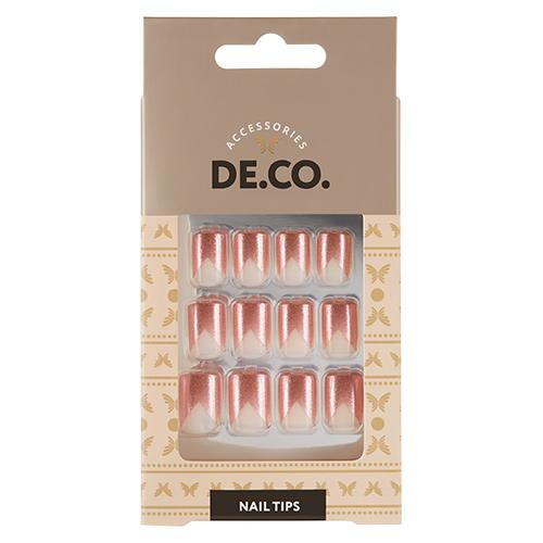 Набор накладных ногтей DECO. FRENCH sparkle 24 шт+ клеевые стикеры 24 шт