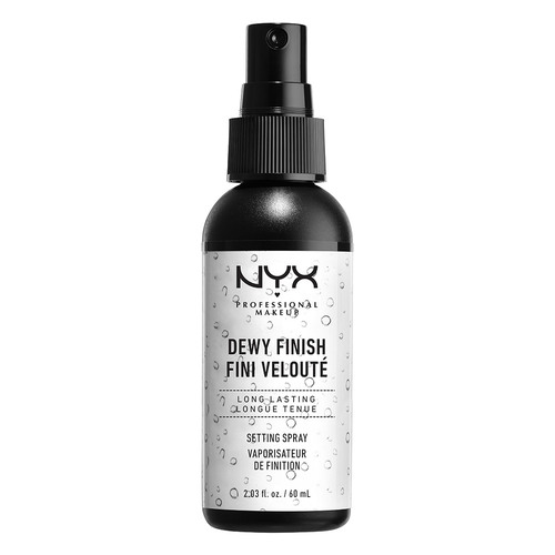 Спрей-фиксатор макияжа NYX PROFESSIONAL MAKEUP DEWY FINISH SETTING SPRAY сияющий 60 мл.
