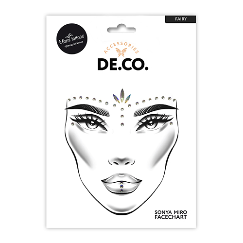 Кристаллы для лица и тела DE.CO. FACE CRYSTALS by Miami tattoos Fairy