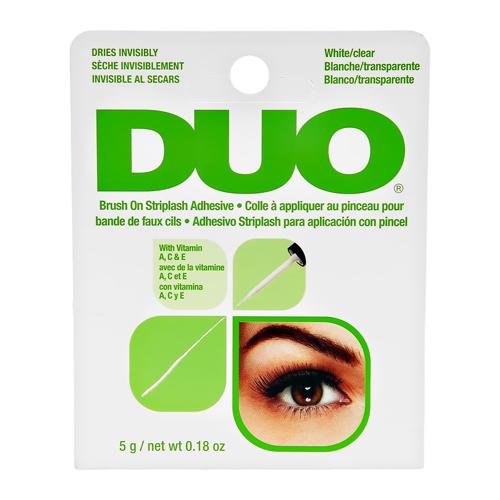 Клей для ресниц `DUO` прозрачный с кистью (с витаминами) 5 г