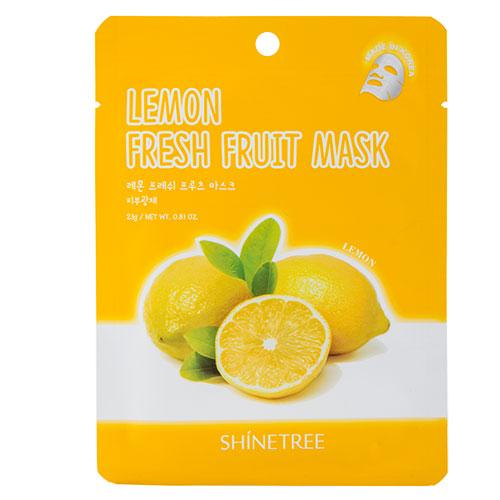 Маска для лица SHINETREE FRESH FRUIT с экстрактом лимона 23 гМаски<br>Маска отлично увлажняет кожу и помогает справиться с сухостью, сохраняя влагу внутри кожи, благодаря экстракту лимона. Являясь богатым источником витамина С, а также витаминов группы В, С и Е, экстракт лимона эффективно препятствует появлению прыщей, поддерживает упругость и свежий вид кожного покрова. Борясь со свободными радикалами, экстракт лимона продлевает молодость кожи, придает ей однородный тон и способствует уменьшению пигментных пятен.<br>
