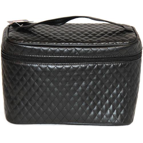 Купить Косметичка LADY PINK BLACK стеганая черная чемоданчик а/п 810015BS, КИТАЙ/ CHINA