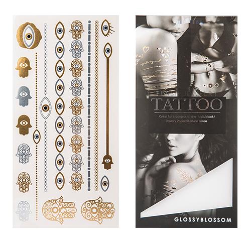 Татуировка для тела GLOSSYBLOSSOM FLASH JEWELRY TATTOO переводная цепи , браслеты с глазамиУкрашения для тела и волос<br>Флеш– тату Glossyblossom –отличный способ стать заметнее и выразить свою индивидуальность!<br>