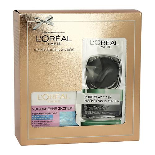 Купить Набор подарочный женский LOREAL крем для лица для нормальной и смешанной кожи 50 мл, маска для лица 6 мл, ГЕРМАНИЯ/ GERMANY