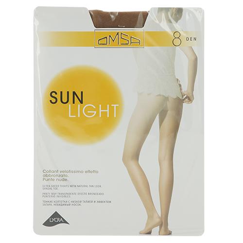 Колготки женские OMSA SUN LIGHT 8 den (Beige naturel) р-р 4Колготки<br>Тончайшие эластичные колготки 8 DEN, создающие эффект обнаженности, с комфортными швами, гигиеничной ластовицей и невидимым мыском.<br>