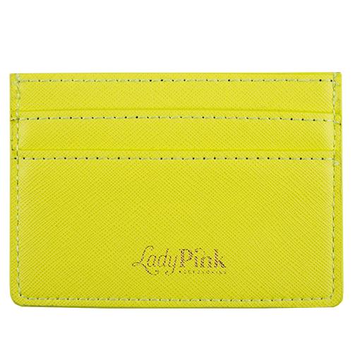 Кардхолдер `LADY PINK` BASIC желтый саффьяноПрочее<br>Со временем женские аксессуары становятся привлекательнее и удобнее - огромные кошельки сменяются стильными и миниатюрными держателями для карт. Компактные и оригинальные, они вполне могут стать незаменимым спутником в повседневной жизни. Картхолдеры Lady Pink отличаются индивидуальным дизайном  и имеют несколько отделений, в таких моделях карточки точно не порвутся и не деформируются, а главное преимущество -  это мгновенный доступ к картам, без которых невозможно обойтись и  ни дня.<br>