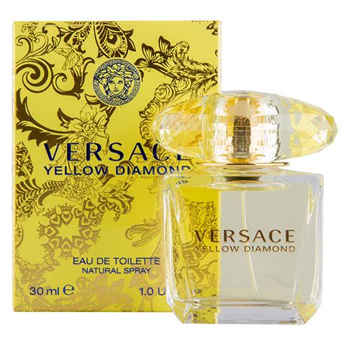 Туалетная вода `VERSACE` YELLOW DIAMOND (жен.) 30 млЖенская<br>Это роскошный аромат от Versace. Подобный солнечному свету, необыкновенно яркий, лучистый желтый сверкает так, как способен только настоящий бриллиант. Чистая чувственность, чистая прозрачность, чистый свет. Еще одна настоящая драгоценность редкой красоты раскрывается в свежем и ярком цветочном аромате; пленительный и волнующий аромат для истинной женственности, уверенной в своем шарме, гармонирует с безошибочно узнаваемым стилем Versace.<br>