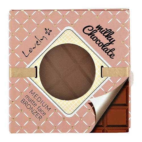 Пудра для лица LOVELY CHOCOLATE бронзирующая тон milky