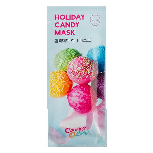 Маска для лица `CANDY O`LADY` Holiday Candy для сияния кожи 20 грМаски<br>Подарите своей коже праздник до нанесения макияжа, ощутите ее сияние и роскошь!<br>-  Этот маленький праздничный  пакетик наполнен живительной эссенцией, дарящей коже длительное увлажнение.<br>- Маска изготовлена из тончайшего микроволокна, плотно прилегающего к коже, что обеспечивает легкое проникновение питательных веществ в кожу.<br>- В совокупности с гиалуроновой кислотой и коллагеном, экстракты растений, содержащиеся в маске, самым благоприятным образом влияют на состояние кожи, питают, придают сияние,  успокаивают и снимают раздражение.<br>- Увлажняющие компоненты смягчают кожу и делают ее шелковистой.<br>