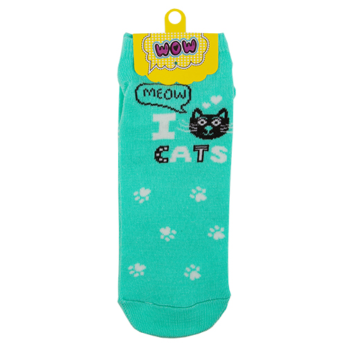 Носки женские `SOCKS` I cats mint р-р единыйГольфы и носки<br>Носки женские I cats mint р-р единый<br>