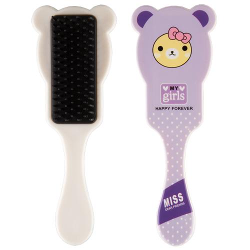 Расческа для волос MISS PINKY FUNNY ANIMALS с ушками фиолетовая