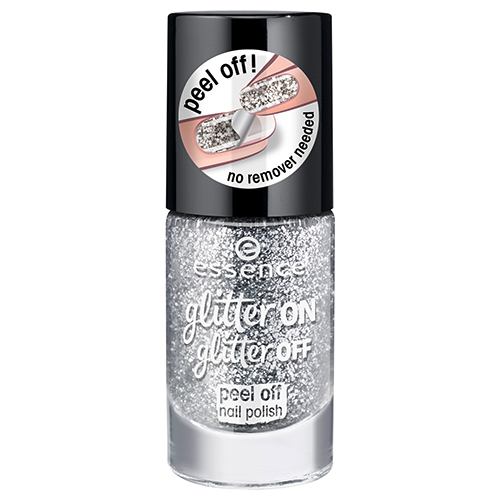 Лак для ногтей `ESSENCE` GLITTER ON GLITTER OFF тон 01 8 мл