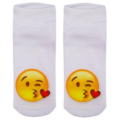 Носки женские `SOCKS` Little emoji Kiss р-р единыйГольфы и носки<br>Носки женские Little Emoji Kiss р-р единый<br>