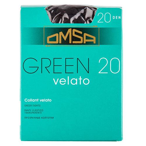 Колготки женские в коробочке OMSA GREEN 20 den nero р-р 4Колготки<br>Тонкие полиамидные колготки 20 DEN с  комфортными швами.<br>