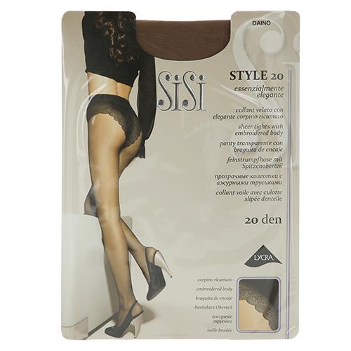 Колготки женские SISI STYLE 20 den (Daino) р-р 3Колготки<br>Прозрачные эластичные колготки 20 DEN с ажурными трусиками, комфортными швами, гигиеничной ластовицей и невидимым мыском.<br>