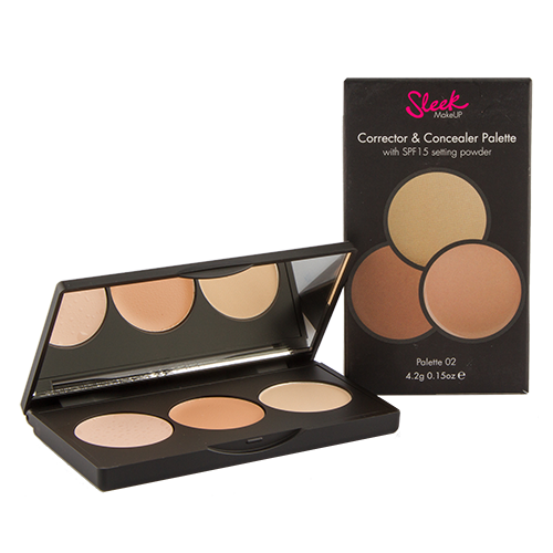 Палетка корректоров и консилеров для лица SLEEK MAKEUP CORRECT AND CONCEAL тон 02