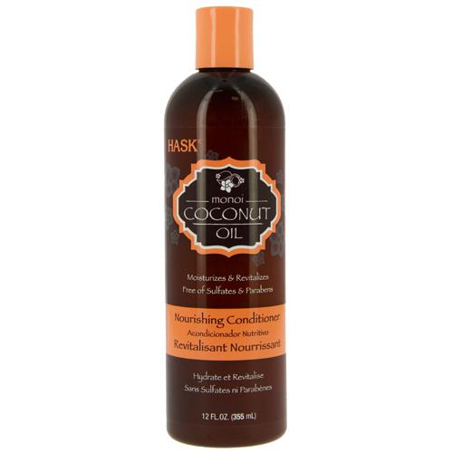 Кондиционер для волос `HASK` с кокосовым маслом (питательный) 355 млБальзамы и ополаскиватели<br>Питательный кондиционер с кокосовым маслом способствует увлажнению и укреплению волос. Кондиционер помогает защитить волосы от повреждений, смягчая и укрепляя их. Даже самые безжизненные волосы становятся мягкими, гладкими и шелковистыми. Подходит для всех типов волос.<br>