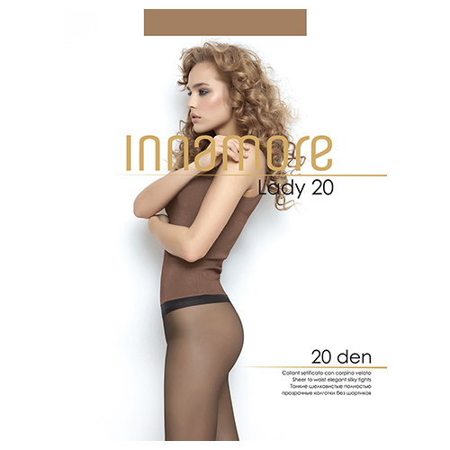Колготки женские INNAMORE LADY 20 den тон Daino р-р 5 фото