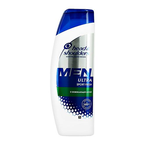 Купить Шампунь для волос HEAD & SHOULDERS MEN ULTRA SPORT FRESH с освежающей мятой против перхоти 300 мл, РУМЫНИЯ/ ROUMANIA