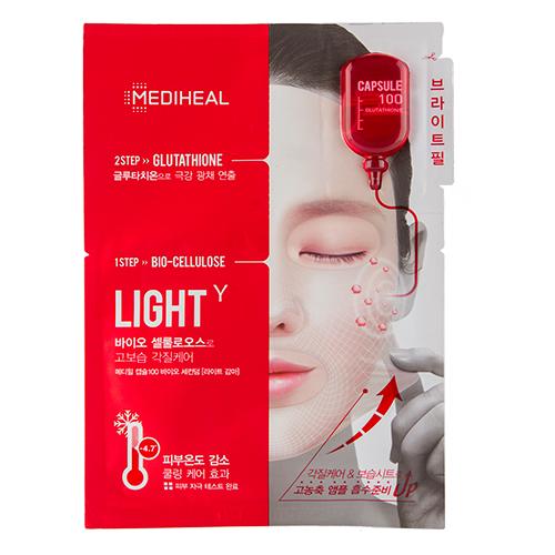 Купить Маска для лица MEDIHEAL LIGHT 2-х ступенчатая с глутатионом 27 мл, РЕСПУБЛИКА КОРЕЯ/ REPUBLIC OF KOREA