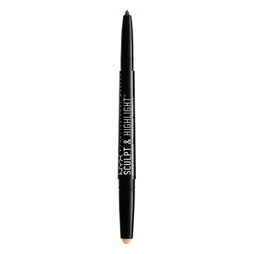 Карандаш для бровей `NYX PROFESSIONAL MAKEUP` SCULPT & HIGHLIGHT BROW CONTOUR тон 06 Light beige