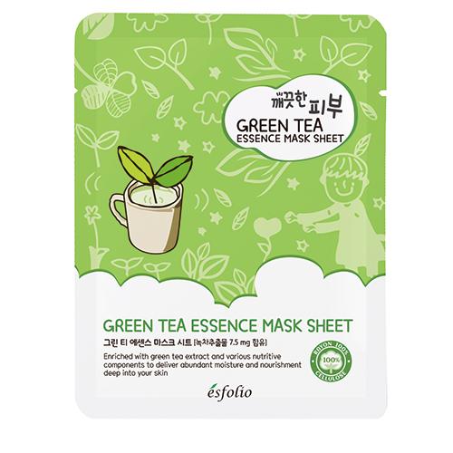 Маска для лица ESFOLIO Зеленый чай 25 мл