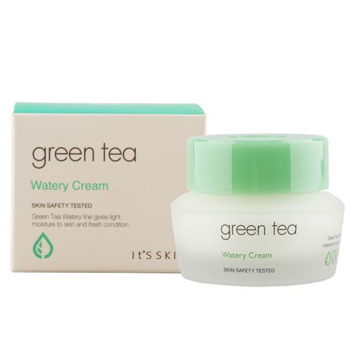 Крем для лица `IT`S SKIN` GREEN TEA увлажняющий 50 млУниверсальный уход<br>Экстракт зеленого чая обладает выраженными антисептическими и антибактериальными свойствами, успокаивает и заживляет поврежденную кожу, нормализует обменные процессы в тканях, способствует очищению кожи и сужению пор, улучшению цвета лица. Также зеленый чай устраняет покраснения и раздражения, чрезмерную жирность и блеск. Экстракт зеленого чая – великолепное средство по уходу за молодой и проблемной кожей. Для наилучшего результата применяйте после тоника, эмульсии и сыворотки.<br>Корейская система ухода за кожей лица включает последовательное нанесение следующих средств: тоник, эмульсия, сыворотка и крем.<br>