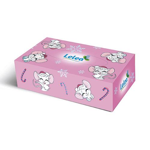 Купить Салфетки бумажные LELEA NEW YEAR Mouse 2-х слойные 100 шт, РОССИЯ/ RUSSIA