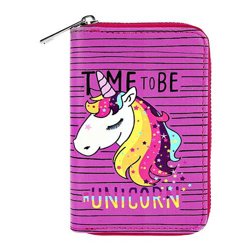 Купить Кошелек LADY PINK фиолетовый с единорогом маленький, КИТАЙ/ CHINA