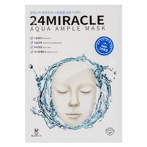 Маска для лица `24 MIRACLE` AMPLE MASK увлажняющая 25 млМаски<br>Маска прекрасно увлажняет кожу, благодаря трегалозе, которая эффективно смягчает и защищает. Экстракт алоэ, входящий в состав, стимулирует обменные процессы и повышает эластичность кожи, ледниковая вода, считающаяся одной из самых чистых на свете, отлично подходит для чувствительной кожи. Комплекс аминокислот нормализует выработку кожного сала, восстанавливает состояние кожи. Березовый сок способствует очищению кожи, тонизирует и освежает, делает ее более упругой.<br>