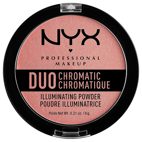 Хайлайтер для лица `NYX PROFESSIONAL MAKEUP` DUO CHROMATIC тон 03 crushed bloom