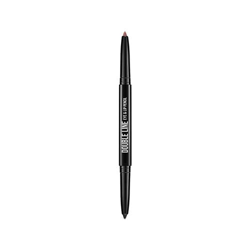 Карандаш для глаз и губ `DIVAGE` DOUBLE LINE тон 04 автоматическийКарандаши<br>Двусторонний автоматический карандаш для глаз и губ DOUBLE LINE творит чудеса: одним цветом ты подчеркиваешь глаза, а другим губы. Каждый карандаш с одной стороны имеет черный оттенок, а с другой популярные трендовые оттенки для губ. Мягкая кремовая текстура карандаша делает их использование еще более приятным. Карандаши имеют удобный и функциональный автоматический механизм.<br>