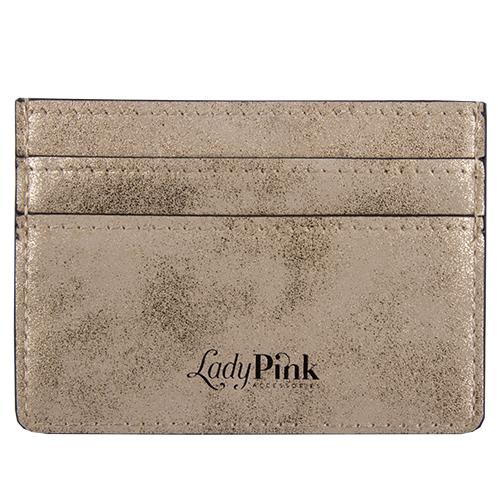 Кардхолдер `LADY PINK` благородное золотоПрочее<br>Со временем женские аксессуары становятся привлекательнее и удобнее - огромные кошельки сменяются стильными и миниатюрными держателями для карт. Компактные и оригинальные, они вполне могут стать незаменимым спутником в повседневной жизни. Картхолдеры Lady Pink отличаются индивидуальным дизайном  и имеют несколько отделений, в таких моделях карточки точно не порвутся и не деформируются, а главное преимущество -  это мгновенный доступ к картам, без которых невозможно обойтись и  ни дня.<br>