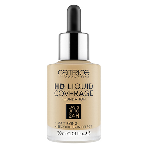 Основа тональная для лица `CATRICE` HD LIQUID COVERAGE тон 035 Natural beige
