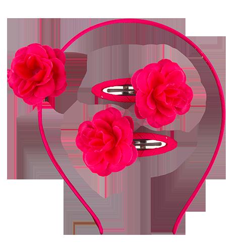 Набор (ободок, 2 заколки) `MISS PINKY`Наборы<br>Набор (ободок, 2 заколки)<br>