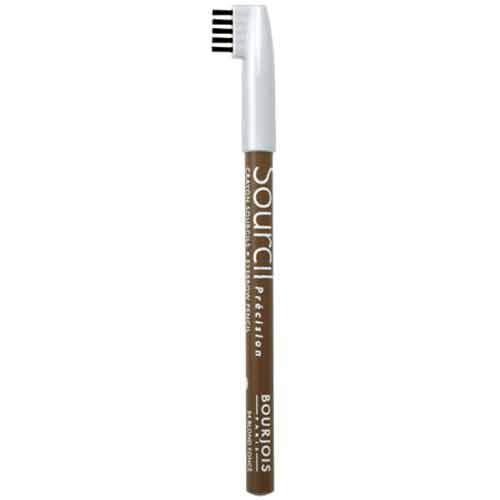 Карандаш для бровей `BOURJOIS` `SOURCIL PRESICION` 04 тонКарандаш для бровей<br>Брови играют решающую роль в характере взгляда. Плотная текстура карандаша позволяет наполнить брови красивым, натуральным цветом. Идеальная щеточка придает бровям безупречный вид.<br>Карандаш Sourcil Precision не растекается и позволяет при желании изменить форму брови.<br>
