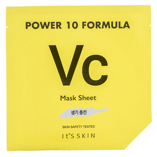 Маска для лица ITS SKIN POWER 10 FORMULA VC с витамином С (для сияния кожи) 25 млМаски<br>Маска придает здоровое сияние коже лица, благодаря входящему в её состав витамину С, который, являясь мощным антиоксидантом, эффективно борется со свободными радикалами, замедляет процесс преждевременного старения и сокращает признаки фотостарения, активно поддерживает упругость и эластичность кожи. Экстракт ромашки прекрасно способствует регенерации кожи, осветляет её и борется с пигментацией. Экстракт мяты активно стимулирует кровообращение и укрепляет сосуды, экстракт корня пиона обладает выраженным антиоксидантным, противовоспалительным и успокаивающим эффектом.<br>