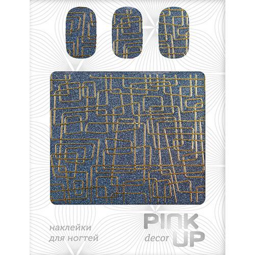 Наклейки для ногтей `PINK UP` Metallic glitter gold labyrinthДизайн ногтей<br>Pink Up Nail desing – наклейки для ногтей. Твой незаменимый помощник для создания салонного дизайна ногтей в домашних условиях. Дизайн ногтей который всегда получается!<br>