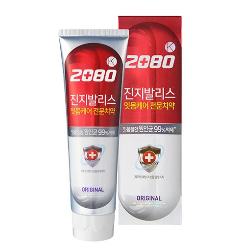 Паста зубная 2080 KЕЙ Здоровье десен с экстрактом Гинкго билоба розовая 100 мл