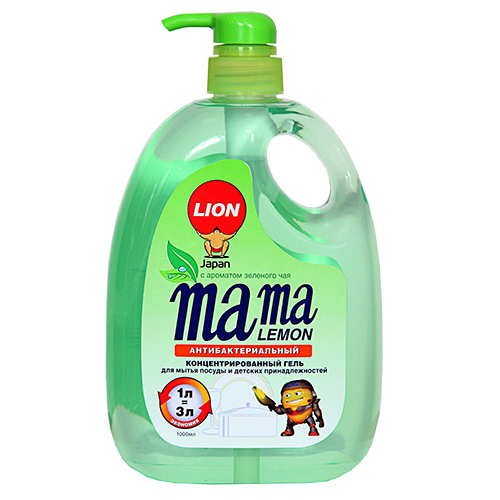 Купить Средство для мытья посуды MAMA LEMON Зеленый чай жидкое антибактериальное 1 л, ИНДОНЕЗИЯ/ INDONESIA