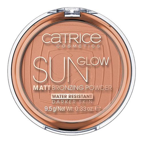 Пудра компактная для лица CATRICE SUN GLOW MATT тон 020 (глубокий бронзовый) с эффектом загараПудра<br>Матовая бронзирующая пудра Sun Glow Matt Bronzing powder подарит Вашей коже естественный оттенок загара всего одним взмахом кисти.<br>