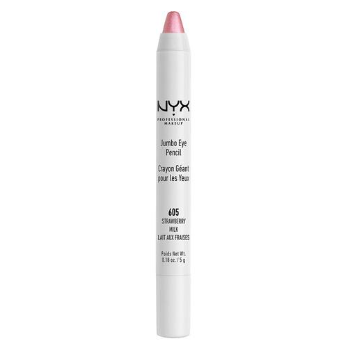 Карандаш для глаз NYX PROFESSIONAL MAKEUP JUMBO тон 605 Strawberry milkКарандаши<br>Универсальный продукт, который работает как подводка, тени, а также его можно смело наносить в качестве подложки под любые тени. Благодаря сочетанию воска, масел и пигментов карандаш легко наносится, ровно ложится и дает насыщенный цвет.<br>