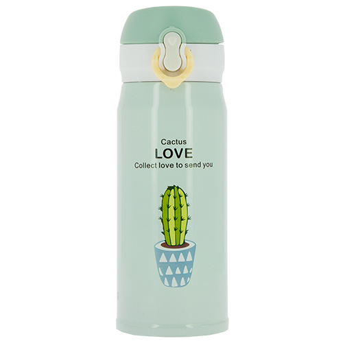 Термос `FUN` CACTUS LOVE Green 350 мл