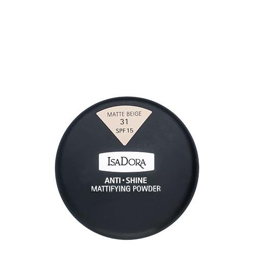 Пудра компактная для лица `ISADORA` ANTI SHINE тон 31 матирующаяПудра<br>Тончайшая компактная пудра устраняет жирный блеск и матирует кожу. Солнцезащитный фактор SPF 15. Мягкий моющийся спонж в комплекте. Для нормальной и жирной кожи. Не содержит ароматизаторов<br>