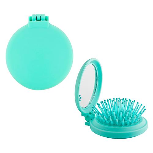 Щетка для волос LADY PINK BASIC mini green массажная круглая soft touch фото